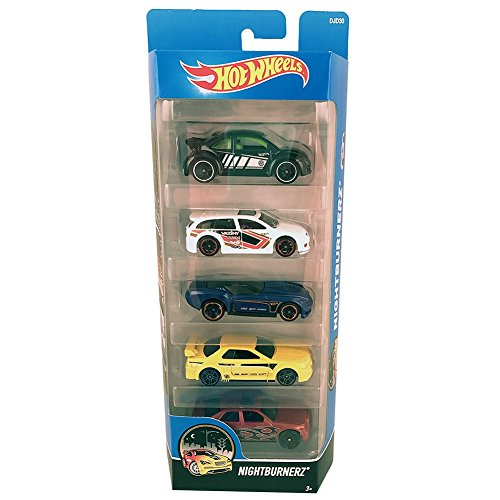 Blister 5 coches Hot Wheels surtido