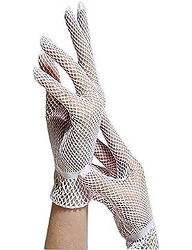 Gespout Guantes Boda Novia Dedos Cortos Encaje Guantes Vestido Mujer Niñas Fiesta Boda Masquerade Gloves Delgado...