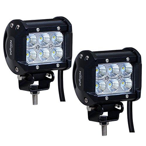 Nilight 2x 18W 1260LM CREE LED Flood fascio 60° guida fendinebbia LED lavoro luce bar staffa di montaggio per SUV Barca 4x 4Jeep lampada