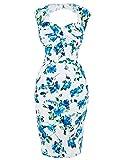 Vestido Vintage Lápiz Floral sin Mangas para Fiesta BP0027-1 40