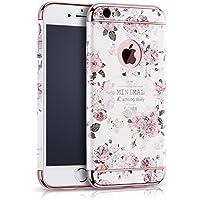 Eleoption Apple iPhone per cellulare creatività maneggevole sfoderabile Case 3d Relief pittura Slim PC Hard Back Case Cover Blume 1 iphone 6/6s Plus 5,5