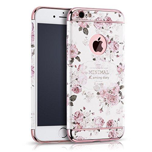 Eleoption Apple iphone 6 Plus / 6S Plus Schutzhülle Kreativität handlich abziehbar case 3D Reliefmalerei Slim PC Hard Back Case Cover (iphone 6/6s Plus 5,5', Blume 1)