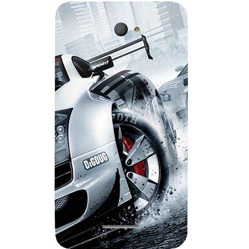Casotec Drift Sport Print Design Hard Back Case Cover for Sony Xperia E4