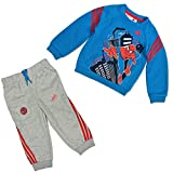 adidas Klein Kinder Baby Anzug Infants Spiderman Crew Sweat Set blau, Größe:80