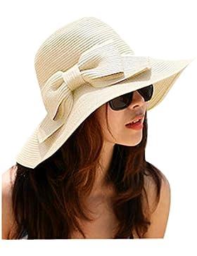 TININNA Bohemia Verano Sun Floppy Mujer Sombrero de la Playa de la Paja del Borde Grande Ancho Cap Moda de Viajes...