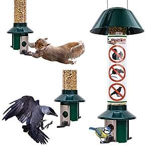 Squirrel Proof Wild Bird Feeder - Roamwild PestOff (Mixed Seed/Sunflower Heart Feeder)