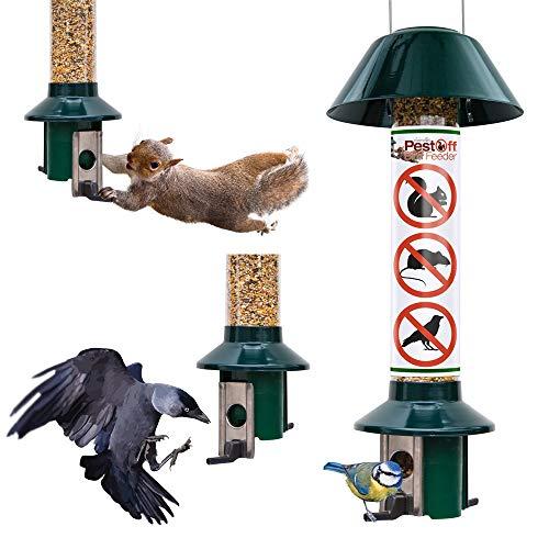 Eichhörnchensicherer Wildvogel-Futterautomat- Roamwild PestOff (Körnermischung/Sonnenblumenkerne)