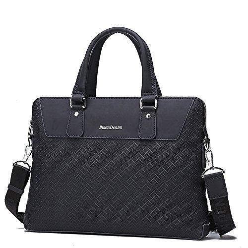 BINSON DENIM Herren Leder Aktentasche Herren Handtaschen Herren Umhängetasche Herren Laptop Tasche Hohe Qualität N2294 (Blau) Blau