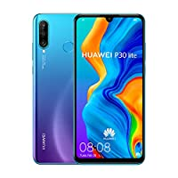 ‏‪Huawei P30 Lite Smartphone, 128 GB 6.15 Inch FHD+ Dewdrop Display Smartphone with MP AI Ultra-wide Triple Camera, 4 GB RAM, Android 9.0 Sim-Free Mobile Phone, Blue‬‏