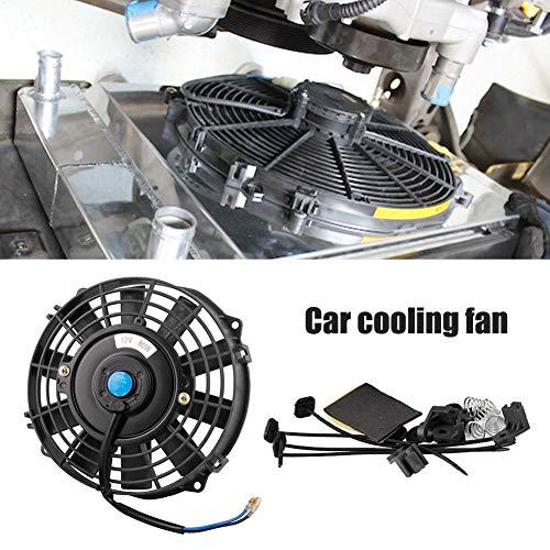 Gorgebuy Ventilador de refrigeración de vehículos de 7 Pulgadas 12 V/80w de Gran Potencia vehículo de Uso General Tanque de Agua Enfriador electrónico Ventilador de refrigeración