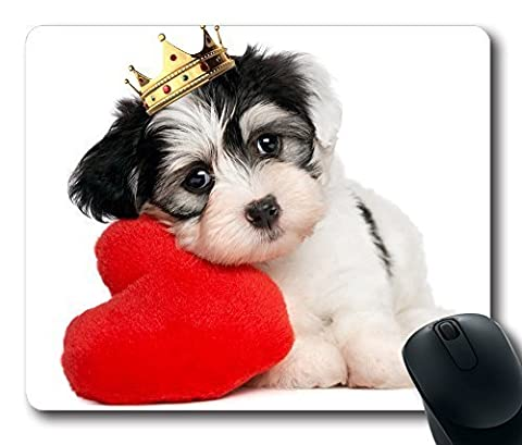 Cute Dog In Crown Fashion Masterpiece Limited Design Oblong Mouse