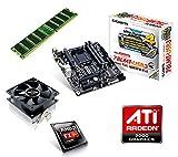 One PC Aufrüstkit | AMD FX-Series Bulldozer FX-4300, 4x 3.80GHz | montiertes Aufrüstset | Mainboard: Gigabyte GA-78LMT-USB3 | 8 GB RAM (1 x 8192 MB DDR3 Speicher 1600 MHz) | CPU Mainboard Bundle | Grafik: ATI Radeon HD 3000 | komplett fertig montiert!