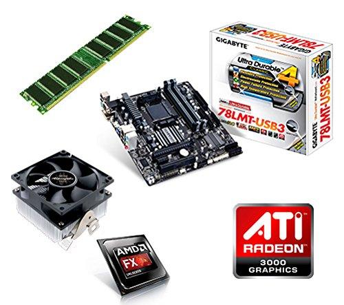 Sata Raid Audio Lan (One PC Aufrüstkit | AMD FX-Series Bulldozer FX-4300, 4x 3.80GHz | montiertes Aufrüstset | Mainboard: Gigabyte GA-78LMT-USB3 | 4 GB RAM (1 x 4096 MB DDR3 Speicher 1600 MHz) | CPU Mainboard Bundle | Grafik: ATI Radeon HD 3000 | komplett fertig montiert!)