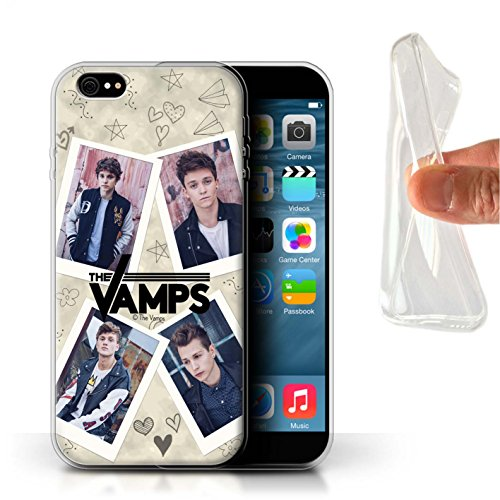 Officiel The Vamps Coque / Etui Gel TPU pour Apple iPhone 6S+/Plus / Pack 5Pcs Design / The Vamps Livre Doodle Collection Portefeuille