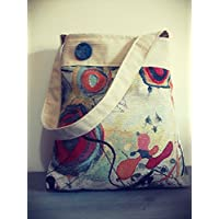Borsa a spalla in Gobelin Kandinskij, beige, borsa tote