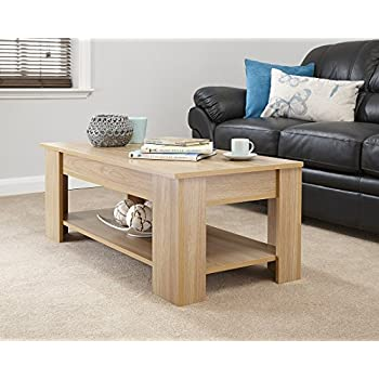 Modern contemporary exclusive oak lift up coffee table - Contemporary centre table for living room ...