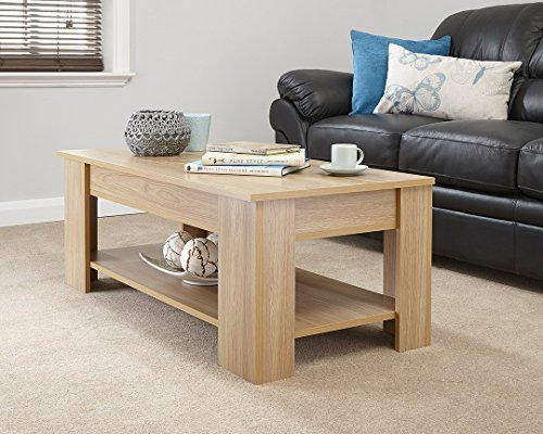 Modern Contemporary Exclusive Oak Lift Up Coffee Table Living Room Centre Table Large Storage Area Amp Under Shelf Buy Online In Dominica At Dominica Desertcart Com Productid 56089689