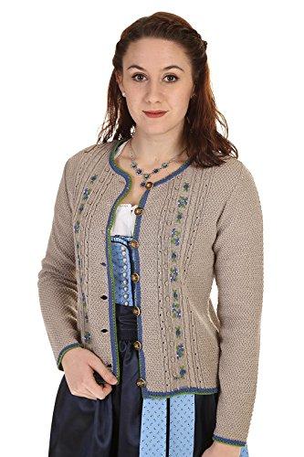 Turi Landhaus Damen Strickjacke D715042 Uschi 1611 taupe hellblau