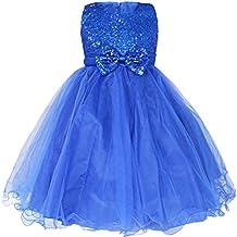 iiniim Niñas Vestido de Princesa sin Mangas Vestido de Boda de Fiesta Cumpleaños Vestidos con Brillante