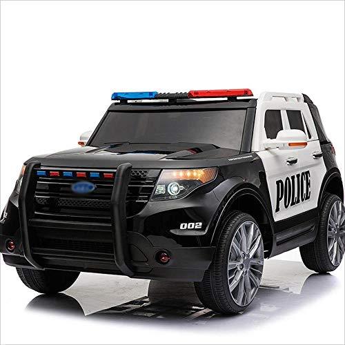 *Kinder Offroad Elektroauto Vier-Rad-Fernbedienung Auto Spielzeug kann sitzen Menschen 1-7 Jahre alt Bluetooth-Fernbedienung (Farbe : Black and white)*