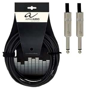 Alpha Audio 109505 Pro Line Câble pour Instrument Jack 6,3 mm 6 m Noir