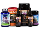 Robert Franz - D3-Tropfen (50 ml), K2-Tropfen (50 ml), Acerola (175 g), MSM-Kapseln (360 Stück), B12-Pastillen (100 Pastillen) und Ayursana OPC (120 Kapseln)