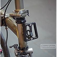 Negro CNC Front Carrier bloque para Brompton Bicicleta Plegable ...