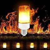 LED-Flammen-Glühlampen, SUNINESS E27 wasserdichte bewegliche flackernde Feuereffekt-Glühlampe justierbare dekorative Flacker-Birnen mit 3 Modi für Stab-Festival-Partei-Weihnachtsdekoration
