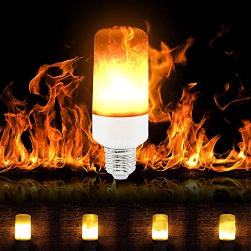 Birne Led Outdoor Laterne (LED-Flammen-Glühlampen, SUNINESS E27 wasserdichte bewegliche flackernde Feuereffekt-Glühlampe justierbare dekorative Flacker-Birnen mit 3 Modi für Stab-Festival-Partei-Weihnachtsdekoration)