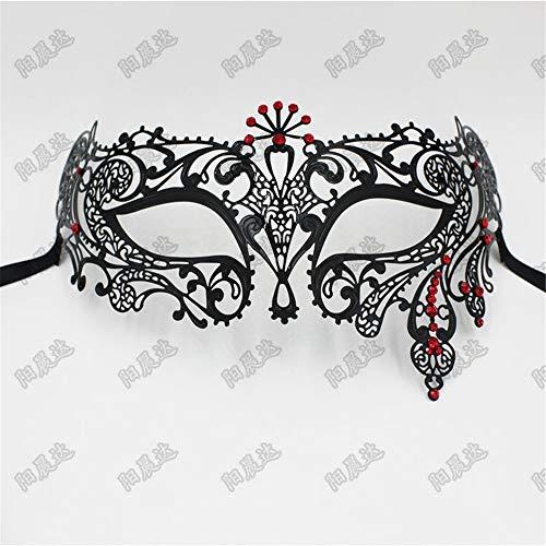 Maskerade,Diamant Maske halb Gesicht Make-up Maske Tanz Venedig Maske Halloween Cosplay Metall Maske weiblich 5 Masquerade