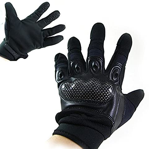 Worldshopping4U Tactical Combat Airsoft Hunting Paintball Motorcycle Hand Finger Gloves Black/XL (L)