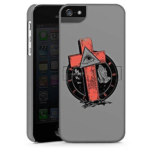 Apple iPhone X Silikon Hülle Case Schutzhülle Kreuz Auge illuminati Gothic Premium Case StandUp