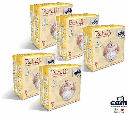 CAM Pannolini Batuffi mod. Immagina taglia 3 MIDI 4-9 kg 100 pannolini V426
