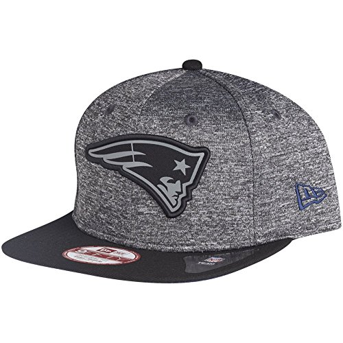 New Era 950 NFL Grey Collection Snapback Cap (Small - Medium 54.9cm - 59.6cm, New England Patriots) (Collection Medium Grey)