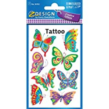 Avery Zweckform 56742 Kinder Tattoos Schmetterling 8 Aufkleber