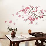Bluelover Prune Rose Fleur Papillon Salon Chambre Stickers Muraux