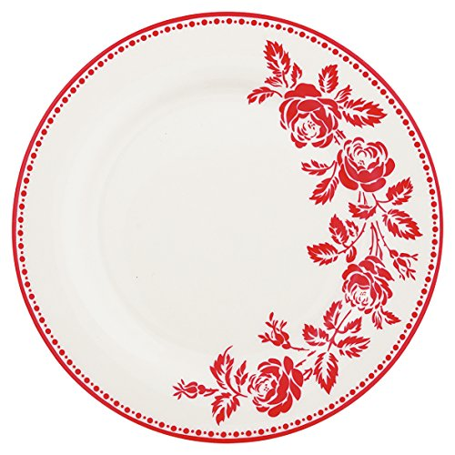 Green Gate Assiette en porcelaine fleur Red