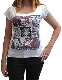 America Marilyn Monroe : T-shirt Femme imprimé Marylin Monroe, t shirt femme,cadeau
