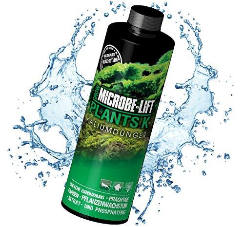 MICROBE-LIFT Plants K - Pflanzendünger - (Qualitäts-Kaliumdünger für alle Arten Wasserpflanzen in jedem Süßwasser Aquarium, sorgt für einen üppigen Pflanzenwuchs und beugt einem Kaliummangel Ihrer Wasserpflanzen nachhaltig vor, Wasseraufbereiter, ausreichend für 4.600 Liter) 236 ml
