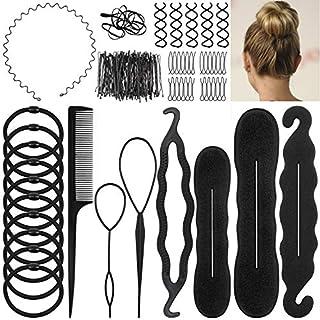 EAONE Hair Styling Set, Hair Design Styling Tools Accessories Hair Modelling Tool Kit Hair Elastics Pins Spiral Hair Braid for Women Girls Fashion Hair design
