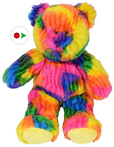 Stuffems Toy Shop Nehmen Sie Ihre eigenen Plüsch 16-Zoll-Multi-Colored Tie Dye Bär - Versandfertig in wenigen einfachen Schritten lieben - Baby-schritte Tie Dye