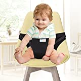 GHB Chaise Haute Portable Bébé Chaise Nomade Voyage pour Sécurité Chaise et Alimentation bébé Facilement Dehors