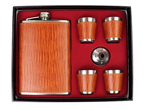 Original GMMH Flachmann Set LN 11-3 Taschenflasche Edelstahl mit Schraubverschl?uß Taschenflachmann Flask 240 ml