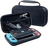beilom Nintendo Schalter Fall–Schwarz Hard Schutzhülle Portable Travel Carry Case Shell Tasche für Nintendo Schalter Konsole und Zubehör