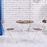 Rart Klappbarer Tisch mit Stuhl,Tragbare esstisch Kleiner couchtisch Multifunktions Haushalt Schreibtisch Snack-Tisch Klapptisch-I 70x70x71cm(28x28x28inch)