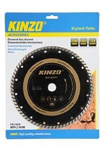 Kinzo 71763 Disque diamant 230 mm sciage sec/humide turbo pour brique/ardoise/béton 230 mm