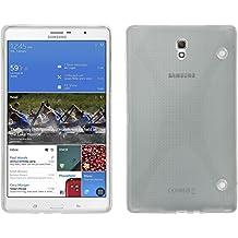 Funda de silicona para Samsung Galaxy Tab S 8.4 - X-Style transparente - Cover PhoneNatic Cubierta + protector de pantalla