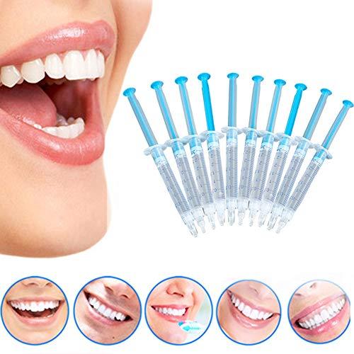 NAttnJf Cuidado de los Dientes Cuidado bucal Fácil de Usar 10 Piezas de blanqueamiento Dental peróxido de Gel blanqueamiento Dental Kit Dental para el Cuidado Dental