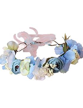 YAZILIND flor guirnalda guirnalda de encaje elegante diadema para bodas festivales Turismo