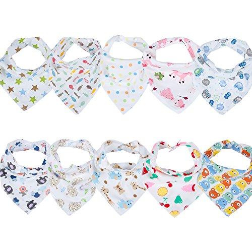 Labebe Baby Dreieckstuch Lätzchen Spucktuch 10er Pack (B)